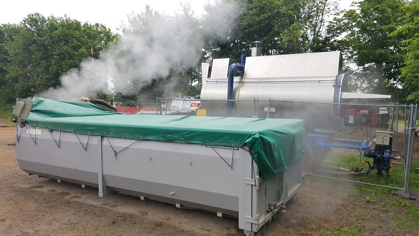 Specialized roll-off containers with steam boiler S 2000 by MSD