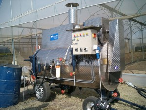 Mobile high-performance steaming boiler of MSD AG (Durbach, Germany) using 200°C superheated steam